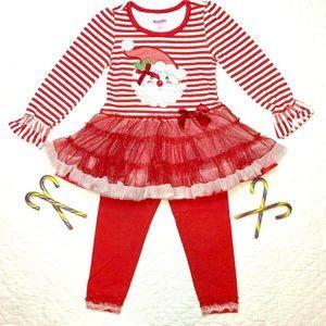 😍Adorable Nannette Kids 2-pc. Christmas outfit😍
